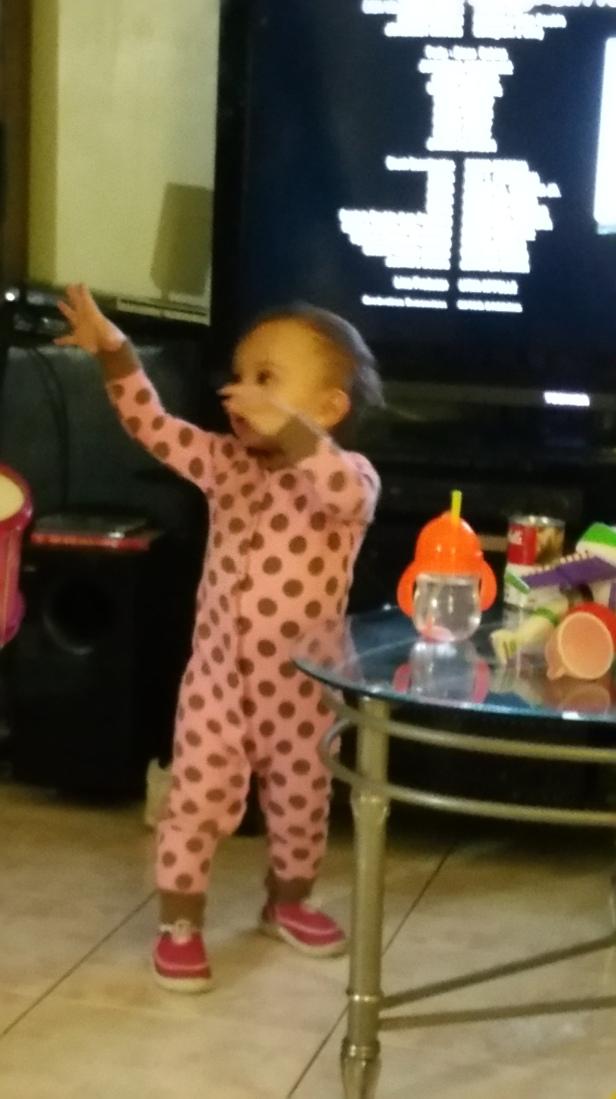 yup~she's dancing!